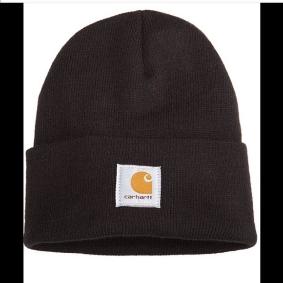 Men's Black Carhartt Beanie New with Tags